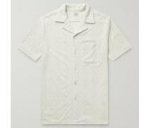 The Cabana Camp-Collar Printed Organic Cotton-Blend Terry Shirt