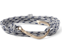 Hook Cord And Gold-plated Wrap Bracelet