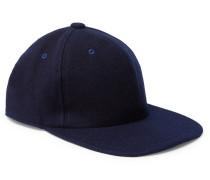 Melton Wool-blend Baseball Cap