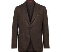 Slim-Fit Herringbone Wool and Cashmere-Blend Blazer