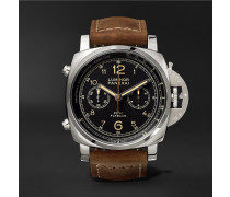 Luminor 1950 Pcyc 3 Days Chrono Flyback Automatic Acciaio 44mm Stainless Steel And Assolutamente Leather Watch