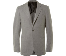 Grey Slim-fit Cashmere Blazer