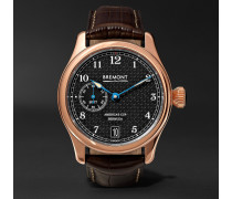 Ac35 America's Cup 43mm Rose Gold And Alligator Watch