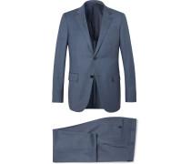 Blue Milano Slim-fit Wool-twill Suit
