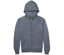 Portland Silk And Cashmere-blend Zip-up Hoodie