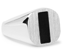 Silver Onyx Signet Ring