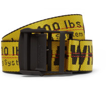Industrial Embroidered Canvas Belt