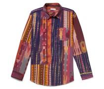 Patchwork Ikat Printed Cotton Shirt