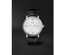 Tradition Automatic Date 40mm Stainless Steel and Alligator Watch, Ref. No. 127769