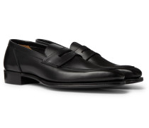 + George Cleverley Leather Penny Loafers
