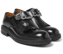 Buckled Leather Kiltie Loafers