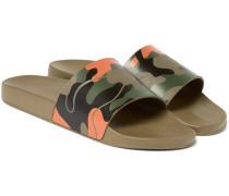 Camouflage-print Rubber Slides