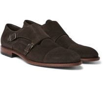 Stomok Suede Monk-strap Shoes
