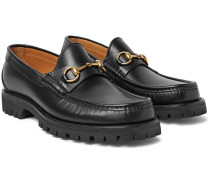 Horsebit Lug-soled Leather Loafers