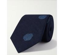 8cm Bassen Indigo-Dyed Cotton Tie