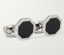 Sterling Silver and Onyx Cufflinks and Dress Studs Set
