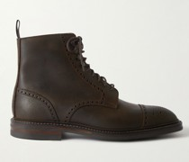 Toby Suede Brogue Boots