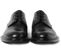 Polished-leather Derby Shoes