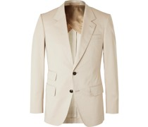 Slim-Fit Cotton-Blend Twill Suit Trousers