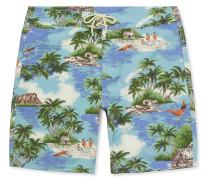 Long-Length Printed Swim Shorts