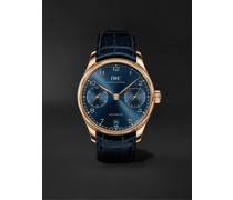 Portugieser Automatic Boutique Edition 42.3mm 18-Karat Red Gold and Alligator Watch, Ref. No. IW500713