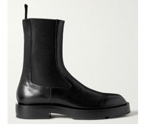 Logo-Detailed Leather Chelsea Boots