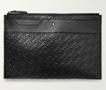 M_Gram 4810 Logo-Embossed Leather Pouch