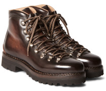 Fidel Ii Burnished-leather Boots