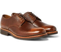 Curtis Burnished Full-grain Leather Derby Shoes