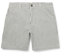 Andy Striped Cotton-Twill Shorts