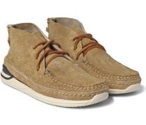 Voyageur Moc-folk Distressed Suede Sneakers
