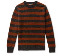 + Goodwood Striped Mélange Shetland Wool and Cashmere-Blend Sweater