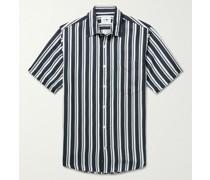 Errico Striped TENCEL and Linen-Blend Shirt