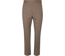 Slim-fit Checked Woven Trousers