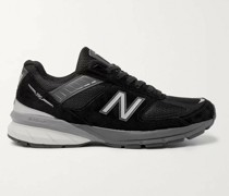 M990v5 Suede and Mesh Sneakers
