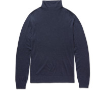 Virgin Wool, Silk And Cashmere-blend Rollneck Sweater