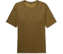 Mélange Crepe-jersey T-shirt