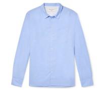 Batiste Cotton and Linen-Blend Shirt