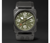 Br 03-92 Military Type 42mm Ceramic And Rubber Watch