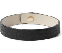 Pebble-grain Leather Bracelet