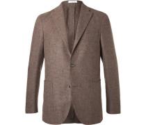 Brown Slim-fit Wool, Cotton And Cashmere-blend Blazer