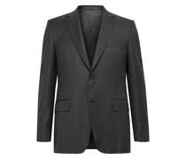 Slim-Fit 130s Sharkskin Wool Suit Jacket