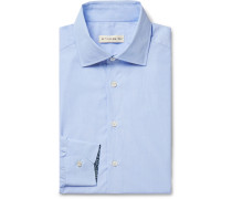 White Slim-Fit Cotton-Poplin Shirt