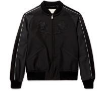Appliquéd Wool And Mohair-blend Souvenir Jacket