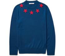 Star-appliquéd Wool Sweater