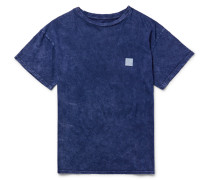 Printed Washed Cotton-jersey T-shirt