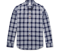 Slim-fit Button-down Collar Checked Cotton Oxford Shirt