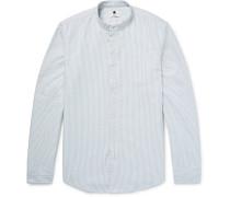 Samuel Slim-fit Grandad-collar Cotton Oxford Shirt
