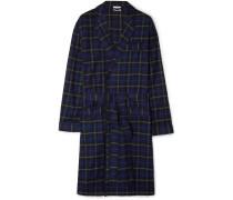 Adams Checked Cotton-flannel Robe