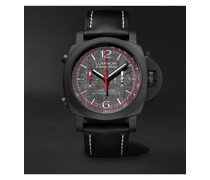 Luminor Luna Rossa Challenger Automatic Flyback Chronograph 44mm Ceramic and Leather Watch